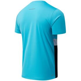 New Balance Striped Accelerate SS Shirt Men, virtual sky